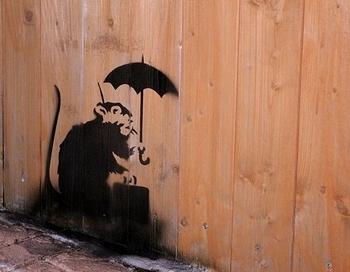 Banksy バンクシー ステンシル アメリカ雑貨屋サンブリッヂ SUNBRIDGE 岩手雑貨屋