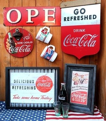 コカコーラ インテリア看板 ブリキ看板 アメリカ雑貨屋サンブリッヂ SUNBRIDGE 岩手雑貨屋