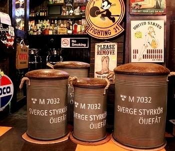 ドラム缶スツール  ミリタリーイス  ガレージチェアー アメリカ雑貨屋サンブリッヂ SUNBRIDGE 岩手雑貨屋 アメリカ雑貨通販