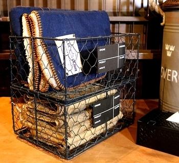 スタッキングワイヤーボックス ミリタリーワイヤーラック アメリカ雑貨屋サンブリッヂ SUNBRIDGE 岩手雑貨屋 アメリカ雑貨通販