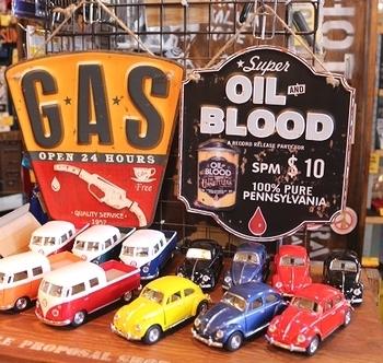 ガソリン看板 オイル看板 ビンテージ看板 ガレージ看板 ROUTE66 アメリカ雑貨屋 SUNBRIDGE 岩手矢巾町