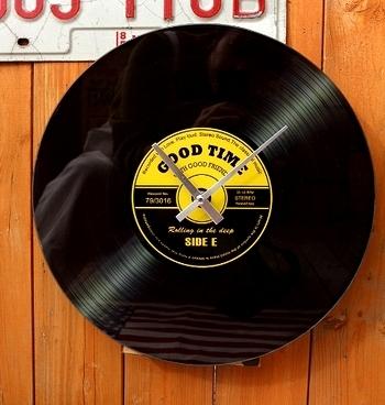 レコード壁掛け時計 レコードクロック レコードコースター4枚セット レコード雑貨 アメリカ雑貨屋 SUNBRIDGE 岩手矢巾 サンブリッヂ