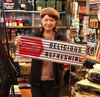 コカコーラ コルゲートサイン アメリカ雑貨屋 サンブリッヂ SUNBRIDGE 岩手雑貨屋