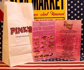 ピンクスTシャツ ピンクスホットドッグTシャツ アメリカ雑貨屋 サンブリッヂ SUNBRIDGE 岩手雑貨屋 アメリカ雑貨通販