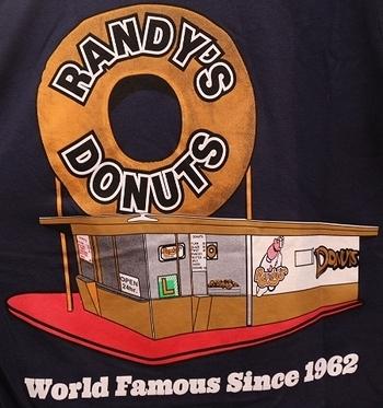 ランディーズドーナツTシャツ アメリカドーナツ店Randy's Donuts アメリカ雑貨屋 サンブリッヂ SUNBRIDGE 岩手雑貨屋