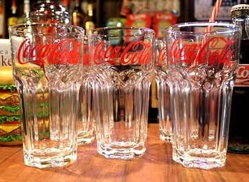 コーラグラス ユーログラス ヨーロッパ輸出用コーラグラス アメリカ雑貨屋 サンブリッヂ SUNBRIDGE 岩手雑貨屋 アメリカ雑貨通販