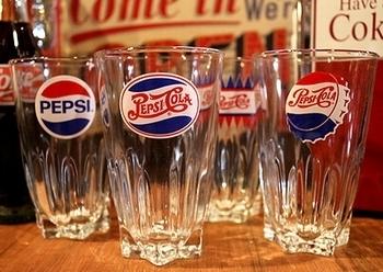 ペプシグラス PEPSIグラス アメリカ雑貨屋 サンブリッヂ SUNBRIDGE 岩手雑貨屋 アメリカ雑貨通販