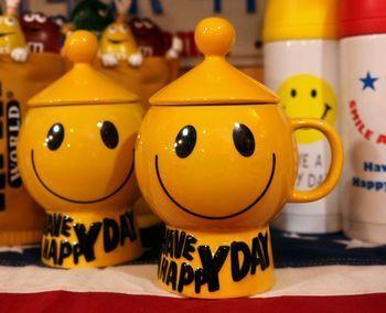 スマイルマグカップ スマイルマグカップ蓋付き アメリカ雑貨屋 サンブリッヂ SUNBRIDGE 岩手雑貨屋 アメリカ雑貨通販