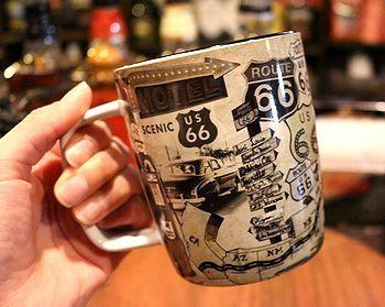 ルート66スプーン付きマグカップ アメリカンマグカップ アメリカ雑貨屋 SUNRIDGE 岩手矢巾雑貨