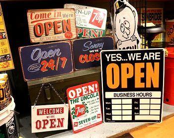 アメリカ看板 オープン看板 店舗看板カッコイイ アメリカ雑貨屋 サンブリッヂ SUNBRIDGE 岩手雑貨屋 アメリカ雑貨通販