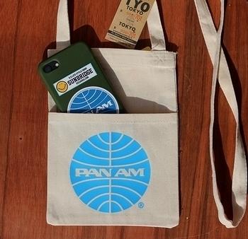 パンナムサコッシュ パンナム航空バッグ ビートルズパンナム パンナム雑貨 アメリカ雑貨屋 SUNBRIDGE 岩手 アメリカン雑貨