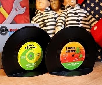レコードブックエンド 本立て アメリカ雑貨屋 サンブリッヂ SUNBRIDGE 岩手雑貨屋