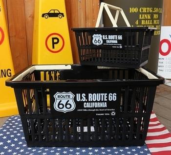ルート66バスケット カゴROUTE66 アメリカンカゴ アメリカ雑貨屋 サンブリッヂ SUNBRIDGE 岩手雑貨屋 アメリカ雑貨通販
