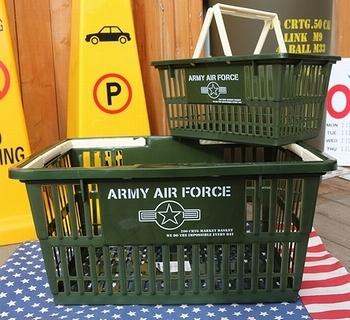 アーミーバスケット カゴARMY アメリカンカゴ アメリカ雑貨屋 サンブリッヂ SUNBRIDGE 岩手雑貨屋 アメリカ雑貨通販