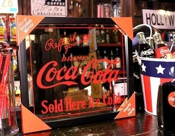 コカコーラパブミラー コーラミラー アメリカ雑貨屋 サンブリッヂ SUNBRIDGE 岩手雑貨屋 アメリカ雑貨通販