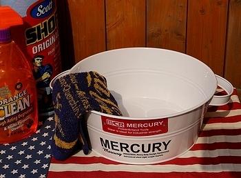 マーキュリータブバケツ MERCURY マーキュリーブリキバケツ  アメリカ雑貨屋 SUNBRIDGE 岩手雑貨
