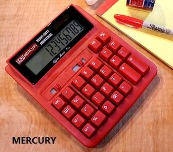 マーキュリー電卓 ソーラーカリキュレーター MERCURY電卓 アメリカ雑貨屋 サンブリッヂ SUNBRIDGE 岩手雑貨屋 アメリカ雑貨通販