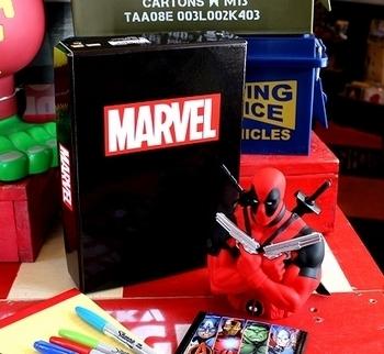 マーベルお道具箱 マーベル収納ボックス マーベルボックス マーベルグッズ アメリカ雑貨屋 SUNBRIDGE アメリカン雑貨岩手