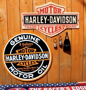 ハーレーダビッドソン看板 ハーレー看板 ガレージ看板バイク アメリカ雑貨屋 サンブリッヂ SUNBRIDGE 岩手雑貨屋 アメリカ雑貨通販