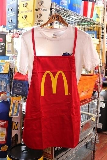 アメリカマクドナルド限定エプロン アメリカマックオフシャルエプロン USマック オフィシャル McDonald's APRON アメリカ雑貨屋 SUNBRIDGE 岩手アメリカン雑貨