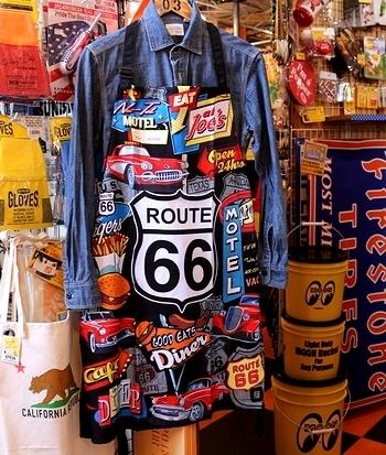 ROUTE66エプロン ルート66エプロン アメリカ雑貨屋 サンブリッヂ SUNBRIDGE 岩手雑貨屋 アメリカ雑貨通販