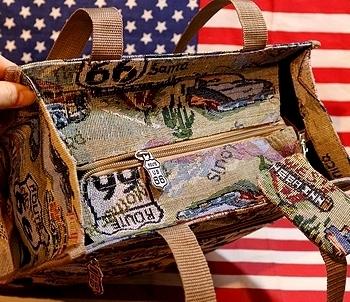ROUTE66 ルート66バッグ コブラン織りバッグ アメリカ雑貨屋 サンブリッヂ SUNBRIDGE 岩手雑貨屋