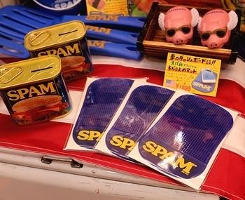 スパムダッシュボードマット スパムスマホ置きシート SPAM アメリカ雑貨屋 サンブリッヂ SUNBRIDGE 岩手雑貨屋