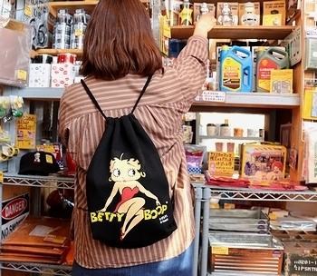 ベティブープナップサック BETTYBOOP アメリカ雑貨屋 サンブリッヂ SUNBRIDGE 岩手雑貨屋