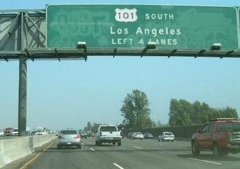アメリカ道路標識 ロサンゼルスUS101号線 トラフィックサイン アメリカ雑貨屋 サンブリッヂ SUNBRIDGE 岩手雑貨屋 アメリカ雑貨通販
