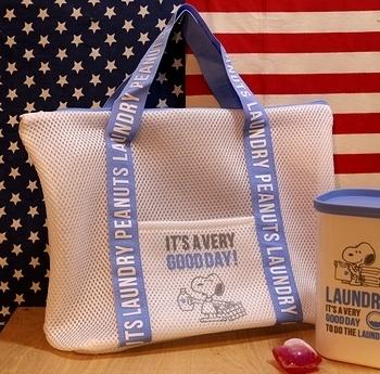 スヌーピーランドリーバッグ ランドリーウォッシュバッグ アメリカ雑貨屋 サンブリッヂ SUNBRIDGE 岩手雑貨屋