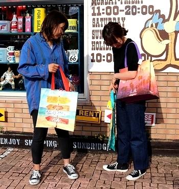 アメリカショップバッグ アメリカエコバッグ アメリカ雑貨屋 サンブリッヂ SUNBRIDGE 岩手雑貨屋