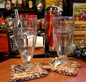コカコーラフロートグラス アメリカンダイナーフロートグラス  アメリカ雑貨屋 SUNBRIDGE 岩手雑貨屋