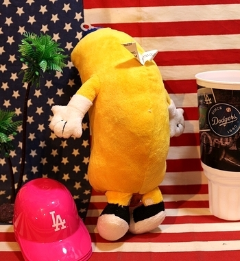ドジャーススタジアムホットドッグマン ドジャースホットドッグプラッシュ ホットドッグ人形 アメリカ雑貨屋 SUNBRIDGE 岩手雑貨屋