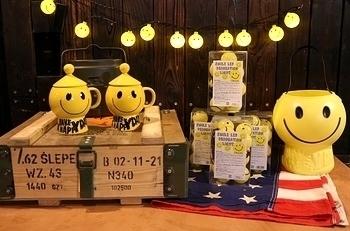 スマイルパーティライト キャンプランタン キャンプLEDライト アメリカ雑貨屋 SUNBRIDGE 岩手雑貨 サンブリッヂ