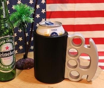 メリケンサック型 缶クーラー アメリカ雑貨屋 サンブリッヂ SUNBRIDGE 岩手雑貨屋