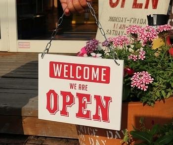 オープンクローズ看板 木製看板 アメリカ雑貨屋 サンブリッヂ SUNBRIDGE 岩手雑貨屋
