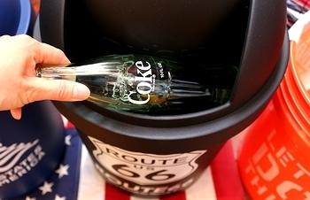 ルート66ゴミ箱 ドームゴミ箱 アメリカゴミ箱  アメリカ雑貨屋 サンブリッヂ SUNBRIDGE 岩手雑貨屋 アメリカ雑貨通販