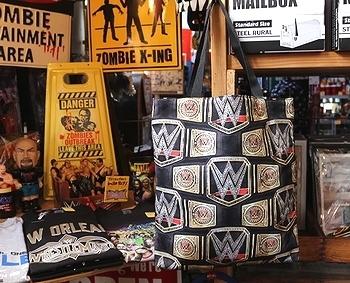 WWEトートバッグ ワールドプロレスレッスルマニアチャンピオンベルバッグ アメリカ雑貨屋 SUNBRIDGE 矢巾 岩手雑貨屋