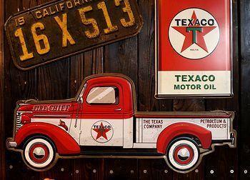 テキサコ看板 テキサコトラック看板通販 TEXCO看板 アメリカ雑貨屋 サンブリッヂ SUNBRIDGE 岩手雑貨屋 アメリカ雑貨通販