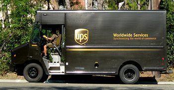 アメリカ運送UPSトラック UPS アメリカ雑貨屋 SUNBRIDGE 岩手雑貨屋 矢巾町