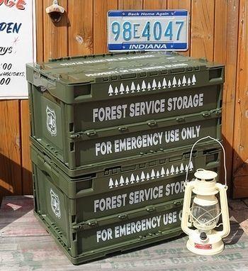 アメリカフォレストサービスコンテナ アメリカ森林局コンテナ  スモーキーベア キャンプコンテナ アメリカ雑貨屋 SUNBRIDGE