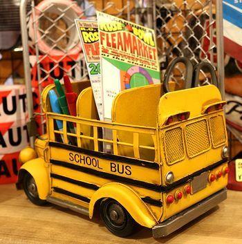 ビンテージブリキスクールバス ブリキオブジェ アメリカオールドカー アメリカ雑貨屋 アメリカン雑貨 サンブリッヂ 岩手雑貨屋 通販 矢巾町