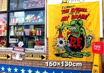 ラットフィンク フラッグ  タペストリー RATFINK アメリカ雑貨屋 アメリカン雑貨 サンブリッヂ 岩手雑貨屋 通販 矢巾町