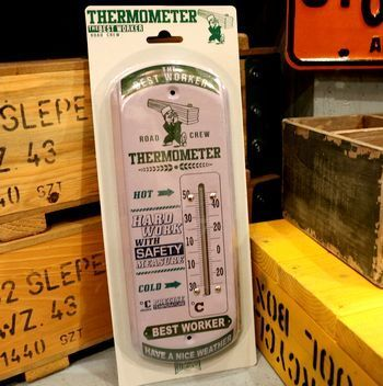 ワーカー ミリタリー サーモメーター 温度計  アメリカ雑貨屋 アメリカン雑貨 サンブリッヂ 岩手雑貨屋 通販 矢巾町