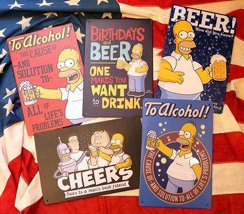 シンプソンズ看板 ビール看板 アメキャラ看板 アメリカ雑貨屋 アメリカン雑貨 サンブリッヂ 岩手雑貨屋 通販 矢巾町