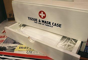ティッシュ&マスクケース マスク収納付きボックスティッシュケース アメリカ雑貨屋 アメリカン雑貨 サンブリッヂ 岩手雑貨屋 通販 矢巾町