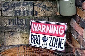 BBQ看板 アメリカンブリキサイン 警告看板 A4ブリキ看板 アメリカ雑貨屋 アメリカン雑貨 サンブリッヂ 岩手雑貨屋 通販 矢巾町