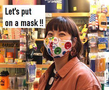 手作りマスク ハンドメイドマスク コロナ観戦予防 アメリカ雑貨屋 SUNBRIDGE 岩手矢巾雑貨屋