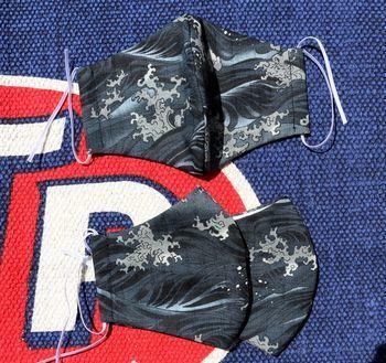 布マスク 立体布マスク和柄 手作りマスク  アメリカ雑貨屋 SUNBRIDGE 岩手矢巾雑貨