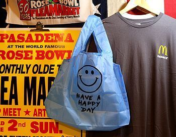スマイルエコバッグ ニコちゃんエコバッグ アメリカエコバッグ アメリカ雑貨屋 サンブリッヂ サンブリッジ 岩手雑貨屋 アメリカ雑貨通販 マスク販売店